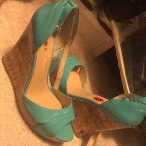 Wedge heels teal